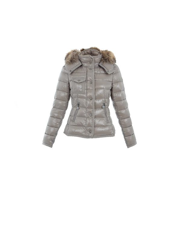 MONCLER - ARMOISE feather down beige jacket