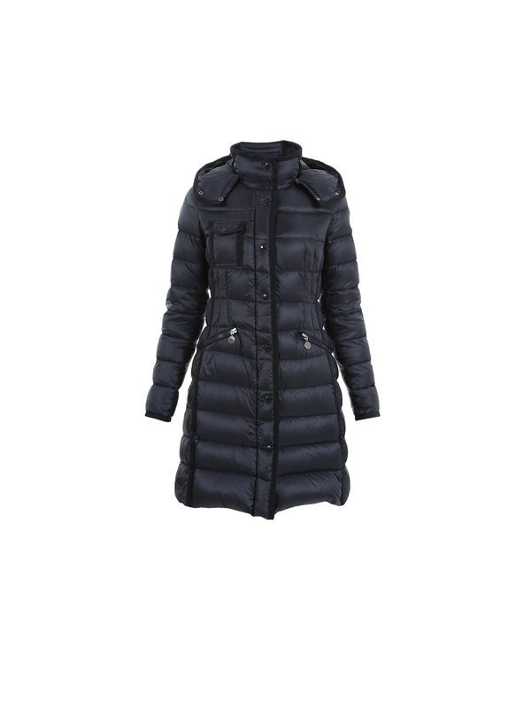 e408dca7b3c2 Down Jackets - MONCLER - HERMINE Blue coat in extra lightweight ...