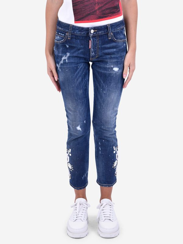 Jeans - DSQUARED2 - Embellished denim jeans  d9eb6f8d17025
