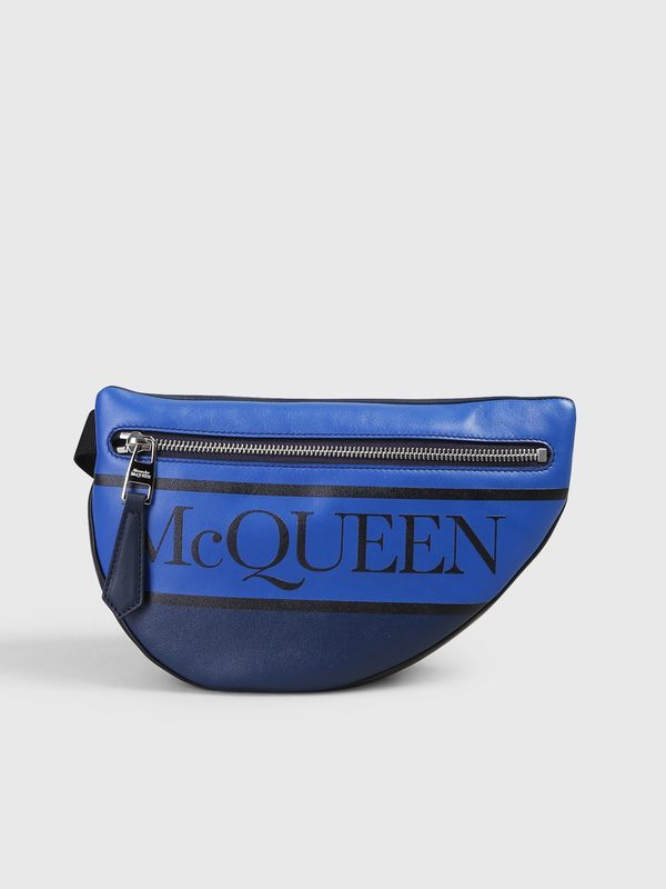 1e915635 Belt bags - ALEXANDER MCQUEEN - Logo print leather belt bag | DELL'OGLIO